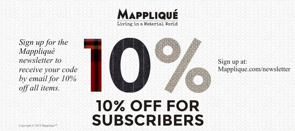 10% off for Subscribers