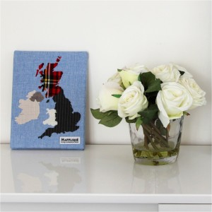 British Isles Fabric Map Wall Art