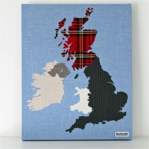 British Isles Fabric Map