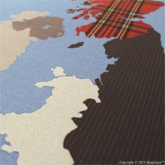 Giclée print of the UK Fabric Map