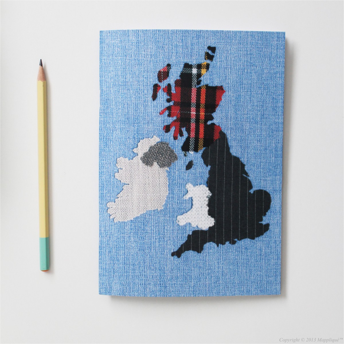 Mappliqué A5 British Isles Notebook