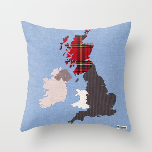 Mappliqu mapplique living in a material world handcrafted british isles cushion cover gumiabroncs Image collections