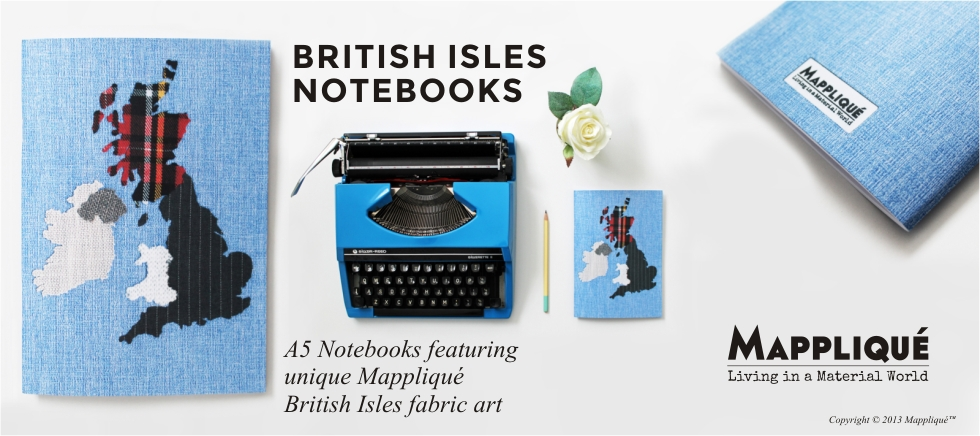 New: British Isles Fabric Art A5 Notebooks