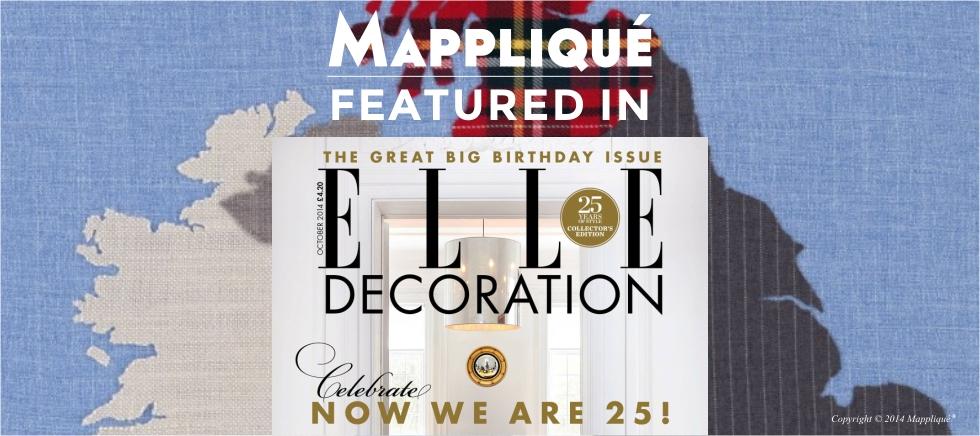 ELLE Decoration OCT 2014 mapplique