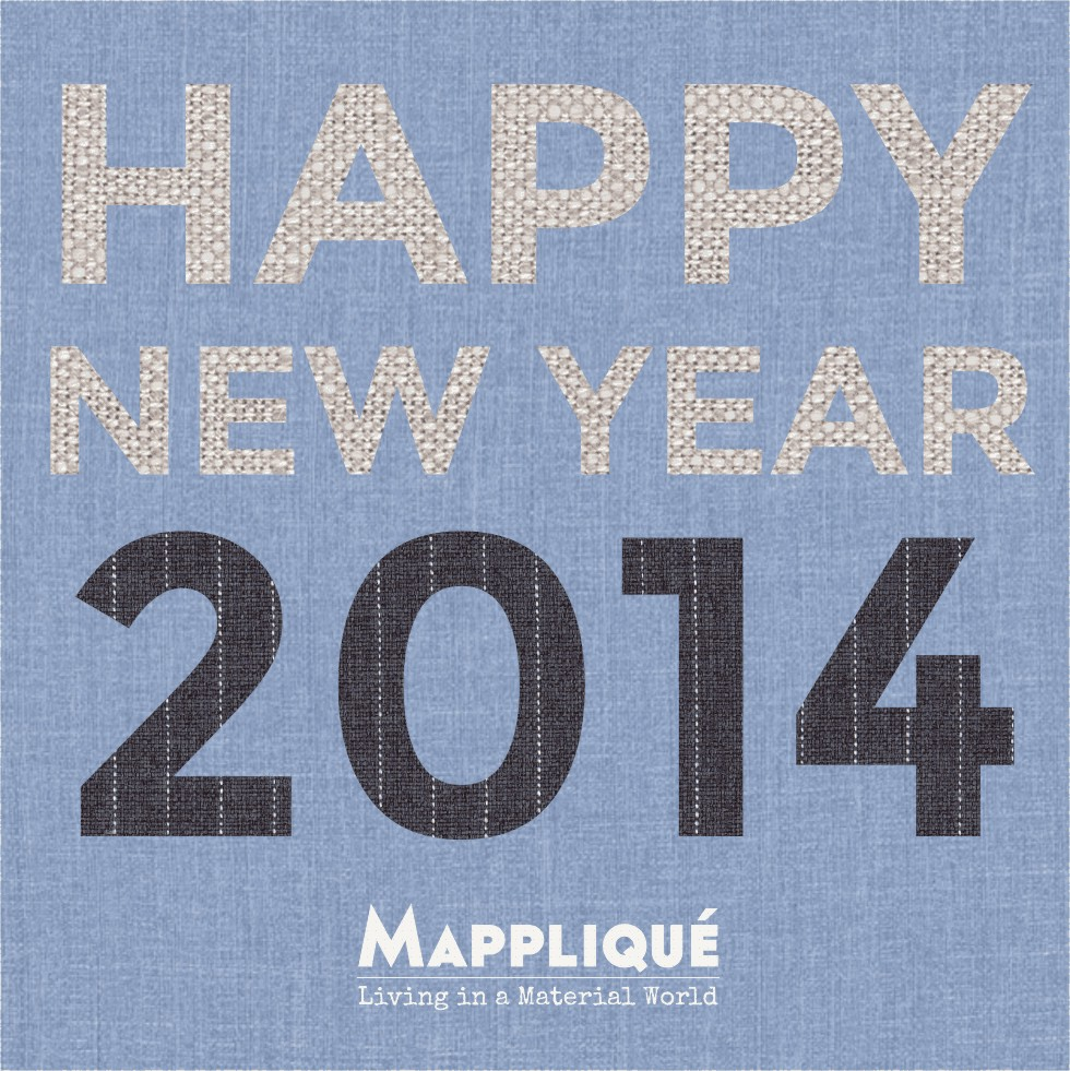 Happy New Year 2014 from Mappliqué