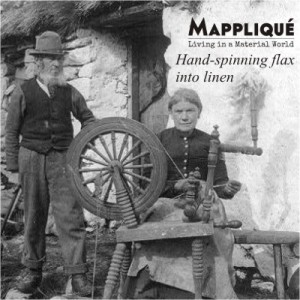 Hand-spinning Flax grass to produce Irish Linen - From Flax to lux: Irish Linen Heritage -  - Mappliqué