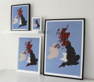 Mappliqué - Group Giclee Prints - British Isles