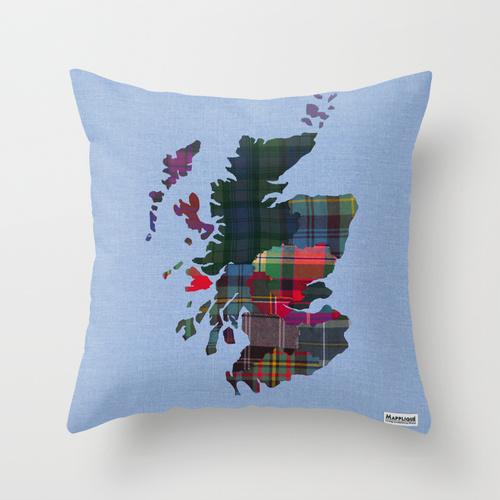 Mapplique Scotland Regions Cushion