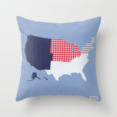 Mapplique USA Regions Cushion Cover