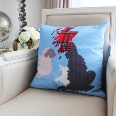 New Mapplique British Isles Printed Cushion Cover