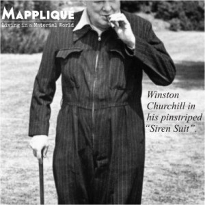 Winston Churchill - Pinstripe - The quintessential English Fabric: From Banks to Bond - Mappliqué