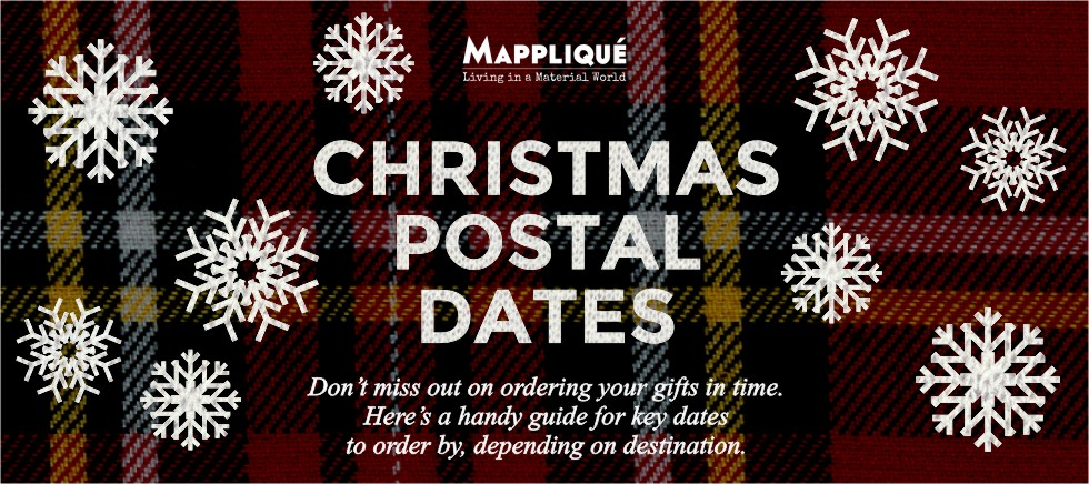 Christmas Postal Dates - Mappliqué - www.mapplique.com