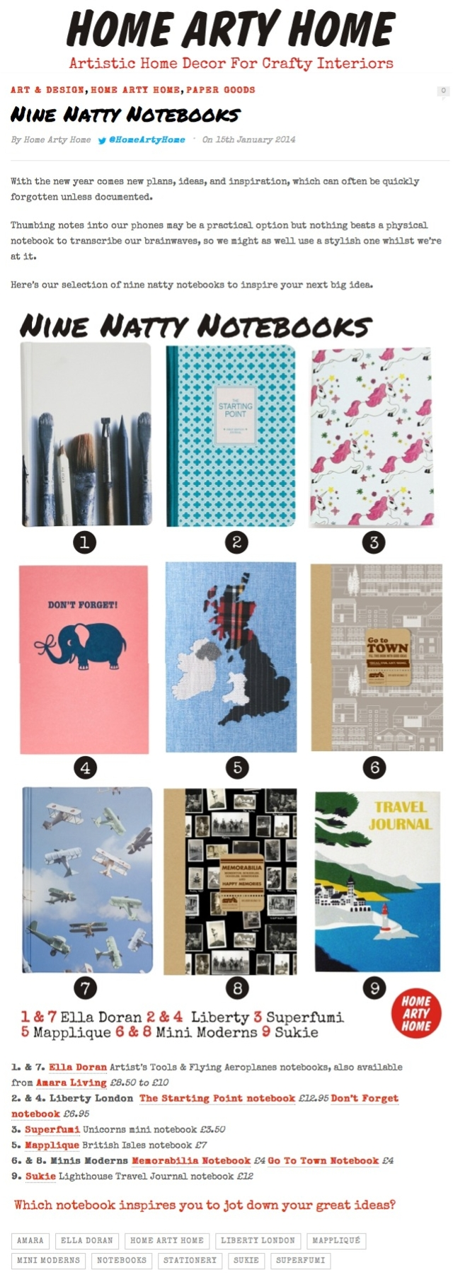 homeartyhome notebooks