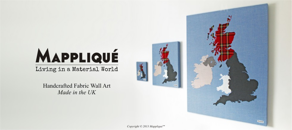 Mappliqué Handcrafted Fabric Wall Art Made in the UK